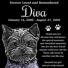Personalized Yorkshire Terrier Yorkie Pet Memorial 12 X 12 Headstone Grave Marker