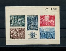 Spain 1939 Art Velasquez Imperf Souvenir Sheet  Edifil Bene. 35 RARE