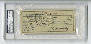 John Bradley - WWII Iwo Jima Flag-Raiser - 1952 Autographed Canceled Check