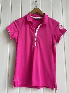 Ladies Glenmuir Bright Pink Golf Top Tarleton Golf Size S FO