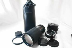 """NEAR MINT"" Tokina RMC 70-210mm F3.5 Zoom Lens For Canon FD w/Teleplus,Case,Caps"