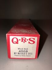 QRS Player Piano Word Roll 4568 My Mother's Eyes Walter Redding