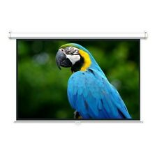 "92"" 16:9 Manual pull down Retractable Projector Projection Screen HDTV 3D 1080p"