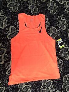 Nike AeroSwift Running Vest Tank Top Singlet Orange Men's Size M CJ7835-854