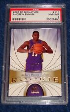 ANDREW BYNUM LAKERS 2005-06 SP SIGNATURE GOLD RC #110 19/25 PSA 8 NM-MT (M16)