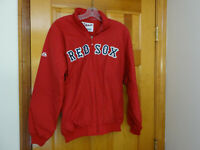 New Majestic Boston Red Sox Zippered Men's Lightweight Jacket-Red-Size Medium*
