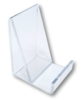 6 Clear Acrylic Flat Item Easel Display Stand Vertical Business Card Holders