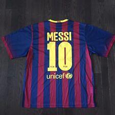 Lionel Messi #10 FC Barcelona Jersey Mens Size L NWT