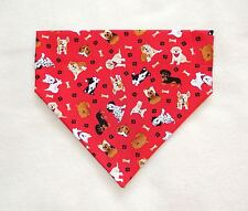 MANY BREEDS OF DOGS ON RED DOG SCARF--MEDIUM