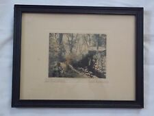 """Fred Thompson colored photograph, """"Old Mill Wheel"""", original framing"""