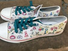 NWT Size 41 US 10 CATH KIDSTON Canvas Sneakers FOREST FRIENDS Hedgehog FoxLondon