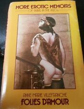 More erotic memories Paris in the 1920s Hardcover 1984 Anne-Marie Villefranche