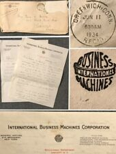 Vintage 1934 INTERNATIONAL BUSINESS MACHINES IBM Personal Love Letter To Wife