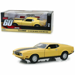 1/18 Greenlight Ford MUSTANG Mach 1 Eleanor 1971 Yellow 60 Seconds Chrono 1974