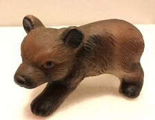 Porcelain Brown Bear Cub Figurine - Made in China - Vintage