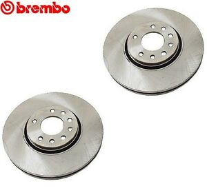 For Saab 9-3 9-3X Set of 2 Front Vented Coated Disc Brake Rotor Brembo 9191247
