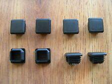 """8 Square Plastic Finishing Cap Plugs for 1""""X1"""" Outside Diameter OD Square Tubing"""