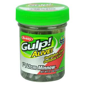 "Berkley Gulp Alive Scented Minnow Bait 1"" Emerald Shiner 2.10 Ounce Jar 1160751"