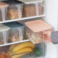 Kitchen Cupboard Refrigerator Food Storage Box Container Holder Case With Handle