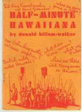 Half Minute Hawaiiana by Donald Billam-Walker - Hawaii History
