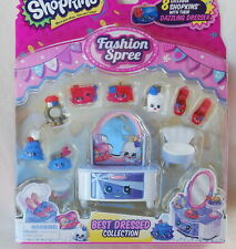 Shopkins Fashion Spree 8 Pack *NEW* BEST DRESSED Dazzling Dresser Red White Blue