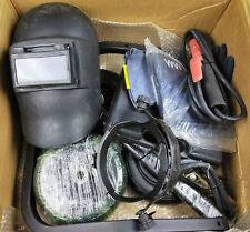 Welding Tool Kit Set Helmet Gloves Wheels Protective Gear Metal Fabrication