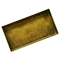 Brass Rectangle Fruit Food Iron Serving Tray Plate Platter Wedding Supplies