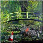 "BANKSY STREET ART CANVAS PRINT Monet Japanese bridge 24""X 32"" stencil poster"