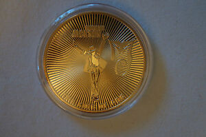 Michael Jackson - The King of Pop -1958-2009 - 24k Gold Plated Coin in Case.