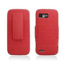 Red Back Cover Case with Red Belt Clip Holster Case for Motorola Atrix 2 Mb865