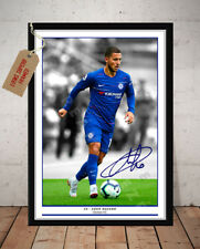 Eden Hazard Chelsea FC 2018 dédicacé signé imprimé photo