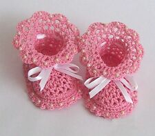 NEWBORN CROCHET knitted baby's booties boots shoes HANDMADE baby bootees