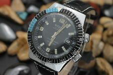 Vintage SICURA By BREITLING 23 Jewel Compressor Style 40mm Diver's Watch