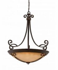 "TRIARCH LIGHTING 31432-35 CORSICA 35"" W 10-LIGHT LARGE PENDANT CHANDELIER NEW"
