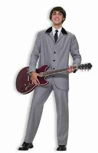 1960's Men's Beatles Style Ed Sullivan Show Costume Suit 2 Pc  Pants & Coat Lg