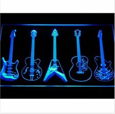 "11.81"" x 7.87"" Guitar Weapons Band Room LED indoor Neon Sign with On/Off Switch"