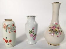 Lot of 3 Gorgeous Porcelain flower vases   Take a look!