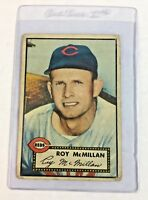 1952 Topps #137 Roy McMillan Cincinnati Reds Baseball Card
