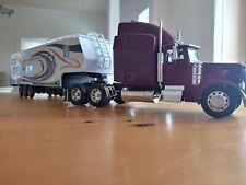 Custom 1:32 Diecast Peterbilt Toy Hauler Rv Camper Trailer.