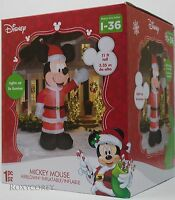 Christmas Disney 11 ft Mickey Mouse Santa Suit Light Up Airblown Inflatable