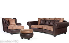 Big Sofa Couch Kolonialstil Inkl. Big Sessel Ohrensessel
