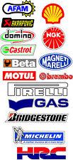 kit 30 adesivi Aufkleber STICKER sponsor tecnici moto hrc akrapovic bmc afam
