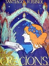 Teatro cultural Satiago Rusinol oraciones Poesía España Poster Vintage 927PY