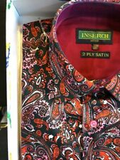 NWT INSERCH Mens Long Sleeve New Multi Color Paisley Shirt 100% Cotton Size 4XL