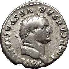 VESPASIAN seated with branch 74AD Rare Ancient Silver Denarius Roman Coin i57517