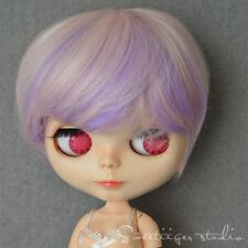 "【Tii】8-10"" doll wig 12"" Blythe/Pullip Hair sweet boy short curly bob not scalp"