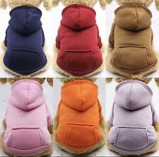 Set Of 6 Different Solid Colored Pet Hoodies With Pocket Super Cute Size Large