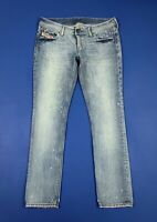 Diesel lowky jeans donna usato slim denim W30 L32 tg 44 used boyfriend T5683