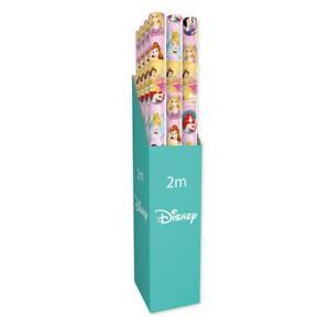 2 x Disney Princess 2M Kids Gift Wrapping Paper Roll Birthday Christmas Present