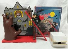 Vintage 1970s HASTY DRACULA Wind Up Vampire Bank ISI Monster Toy White Knob